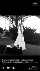 Behind the scenes Eiffel tower Paris Trocadero engagement photo shoot anais chaine photographer