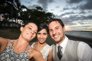 Selfie with Elle and Hamish in Fiji