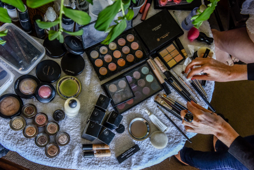 Jodie Brenstrum's intricate makeup kit