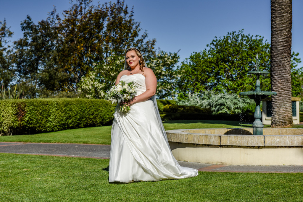 Bride in the manor gardens