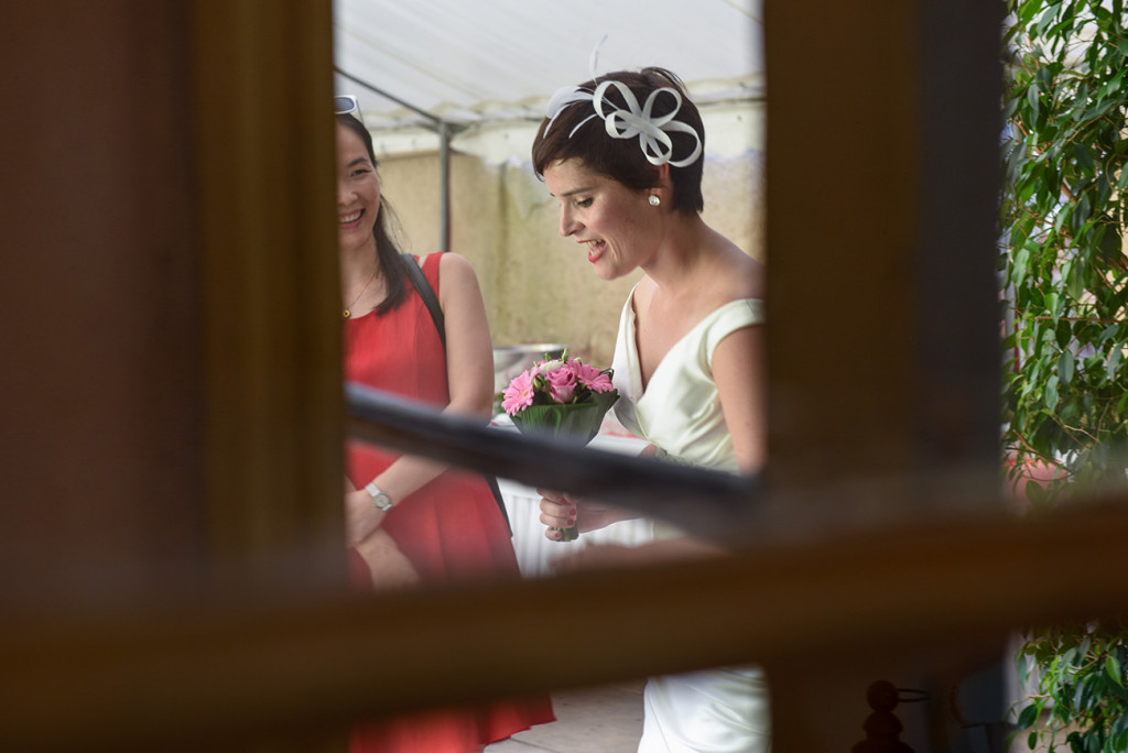 A peek through to the French Bride at Pranemoux Castle France