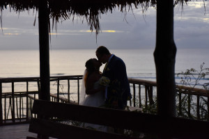 Couple photography session at Sunset Point in the Yasawas Island (Paradise Cove resort) in Fiji by Anais Photography.