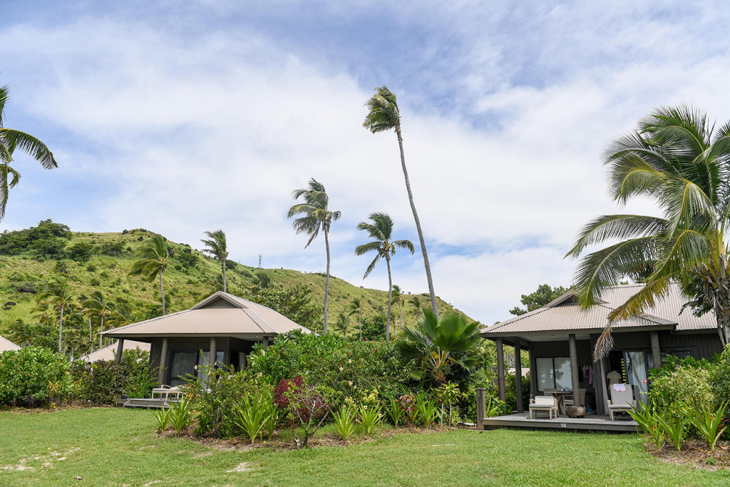 Beach villa at Vomo Island resort, Fiji