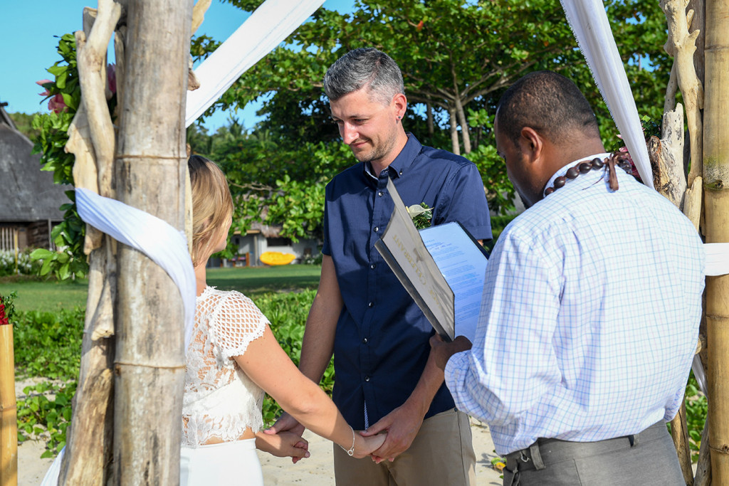 Yatule Fiji elopement wedding ceremony vows