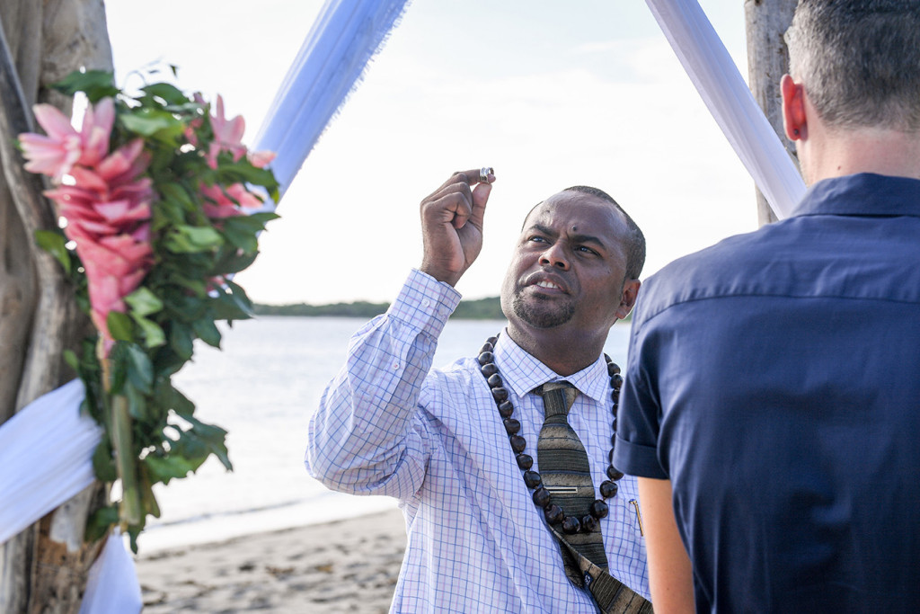 Officiant at Elopement Beach wedding Yatule Fiji