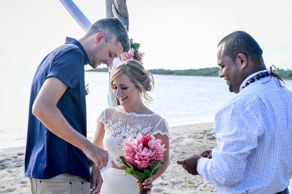 Finally Eloped! Yatule Fiji beach wedding
