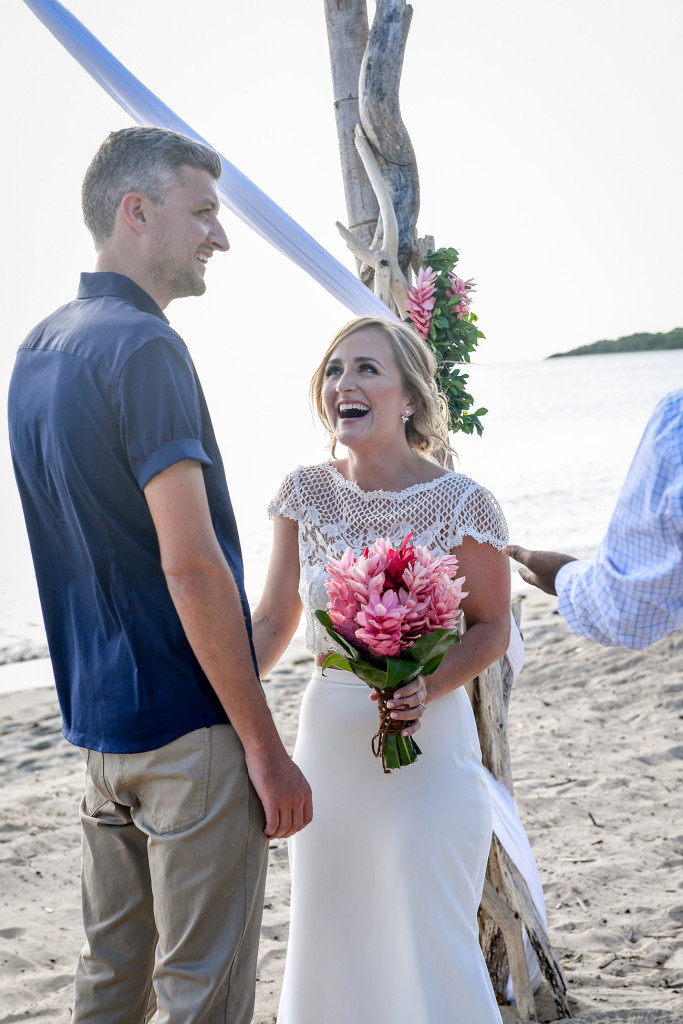 Bride and groom finally married at Yatule Fiji beach elopement