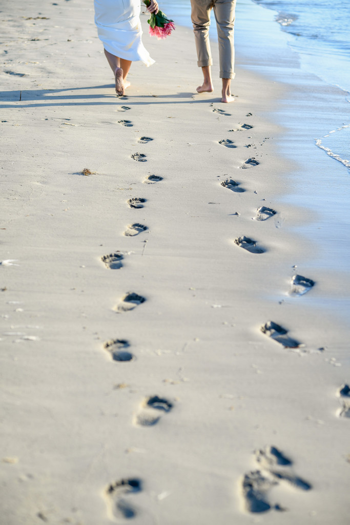 Eloped Footsteps in Yatule Fiji Resort Beach