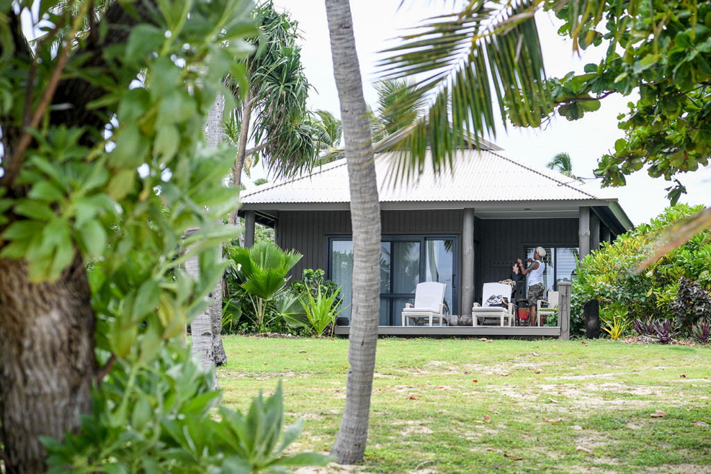 The couple's villa at Vomo Island Resort Fiji