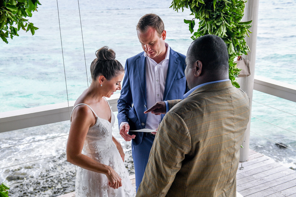 Marriage vows at Vomo Island Resort Fiji