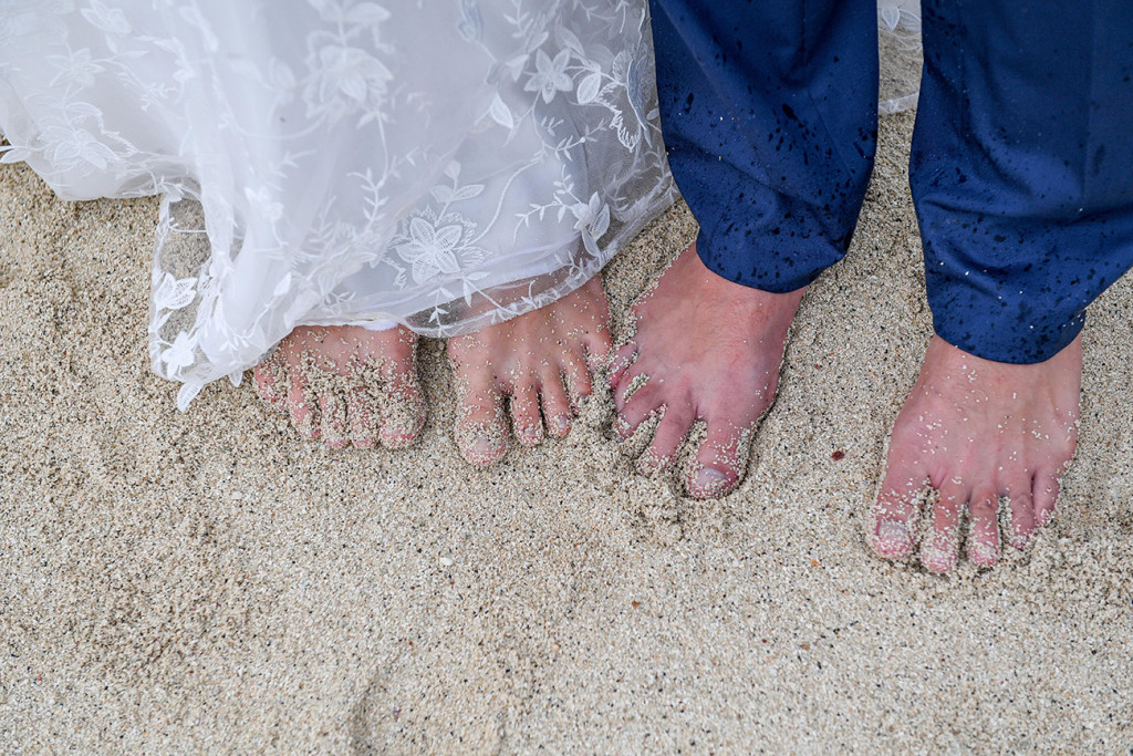 Toes in the sand at Vomo Island Resort Fiji