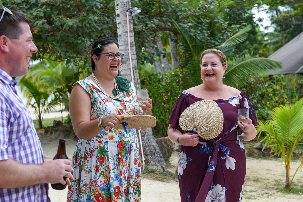 Guests celebrate at Plantation Island Resort Fiji
