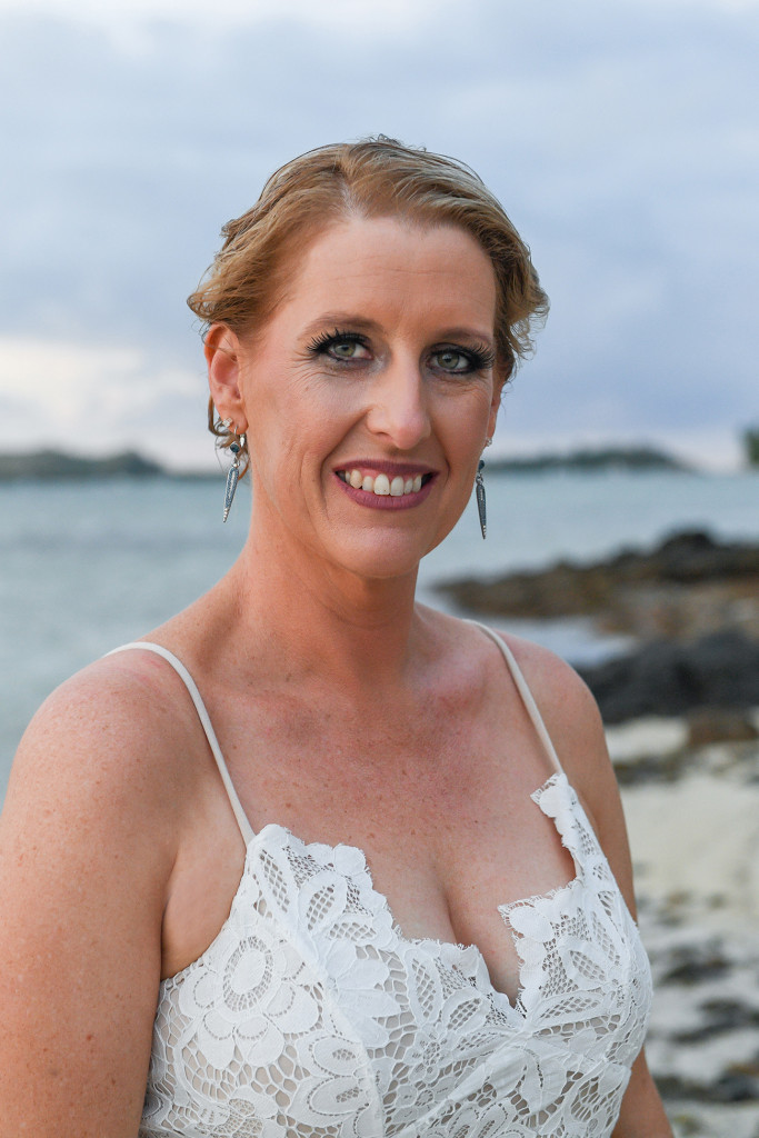 Mid close up of Fiji Island Bride
