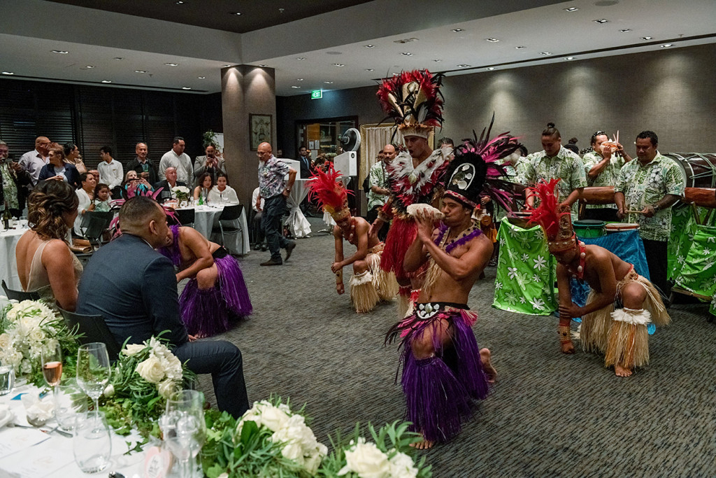Traditional Polynesian dance performed at the wedding in Sofitel Auckland