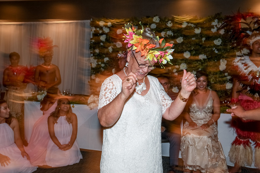 Guests join Traditional Polynesian dance performed at the wedding in Sofitel Auckland