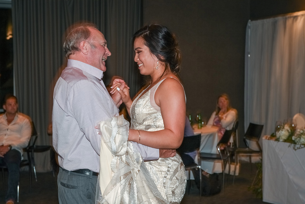 Bride's first dance with her father at the Sofitel Auckland