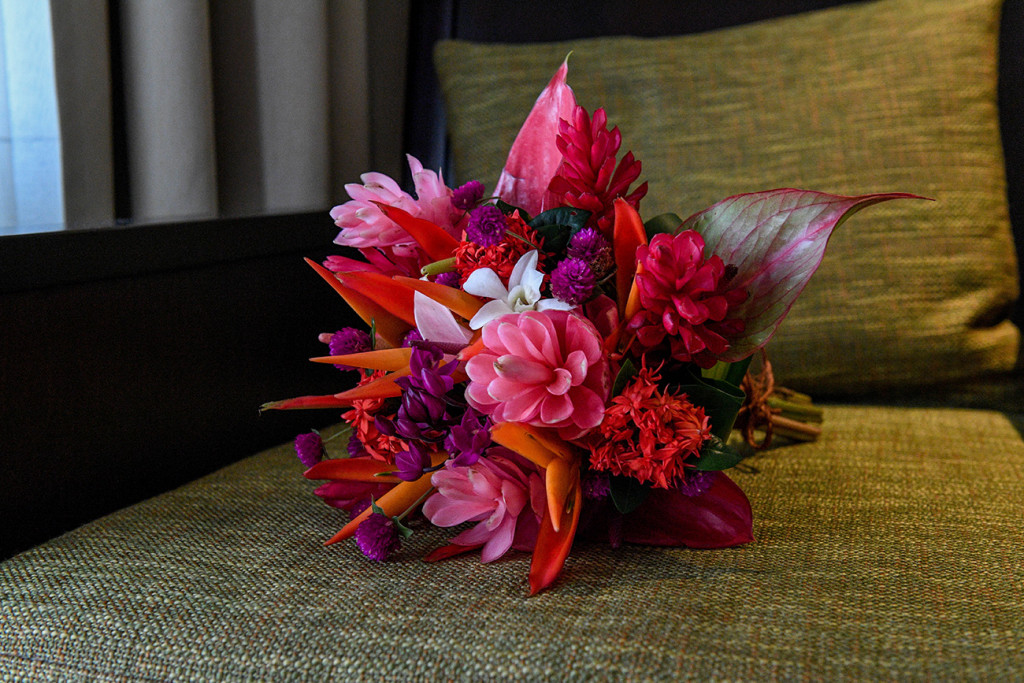 Tropical Fiji bouquet for the bride