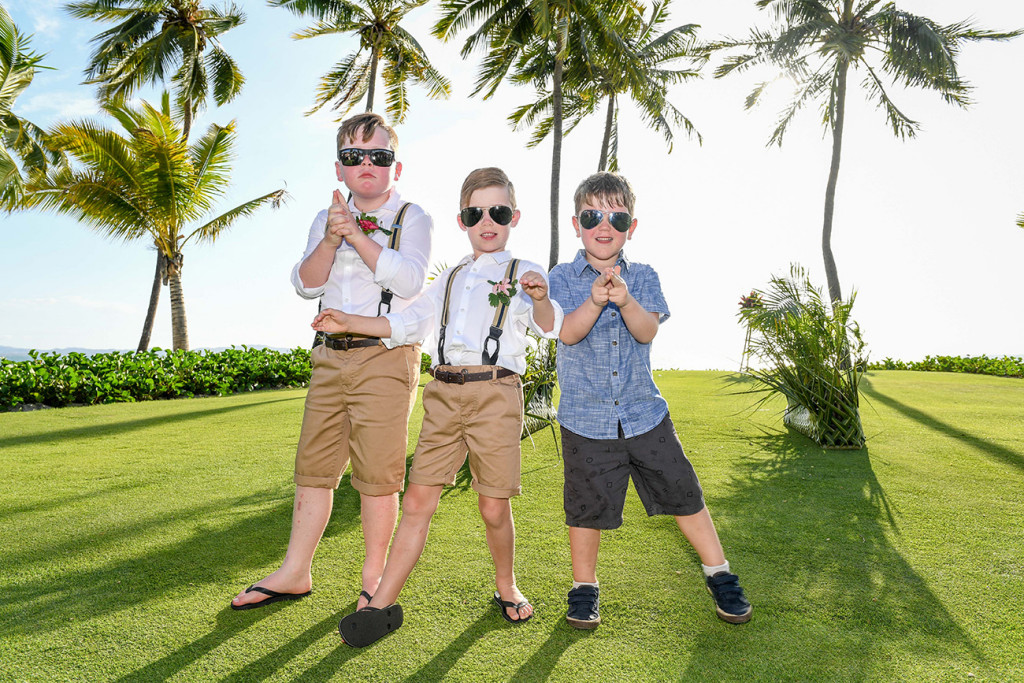 Cute best boys in sunglasses strike 'Men In Black' pose
