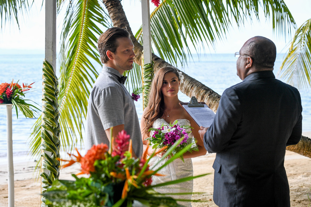 wedding ceremony, Matangi island resort, Fiji