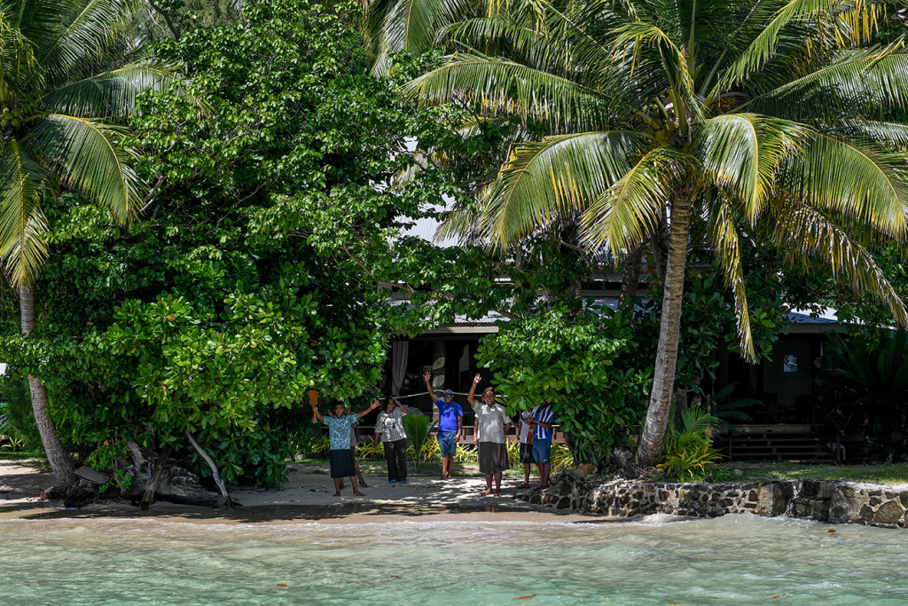 Matangi Island resort, Fiji team