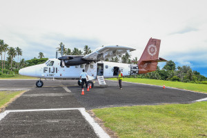 small plane from Fiji airways