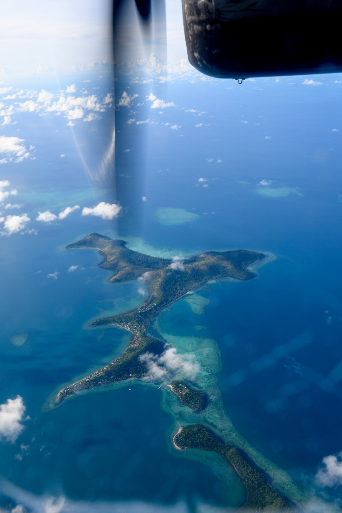 Fijian island from above