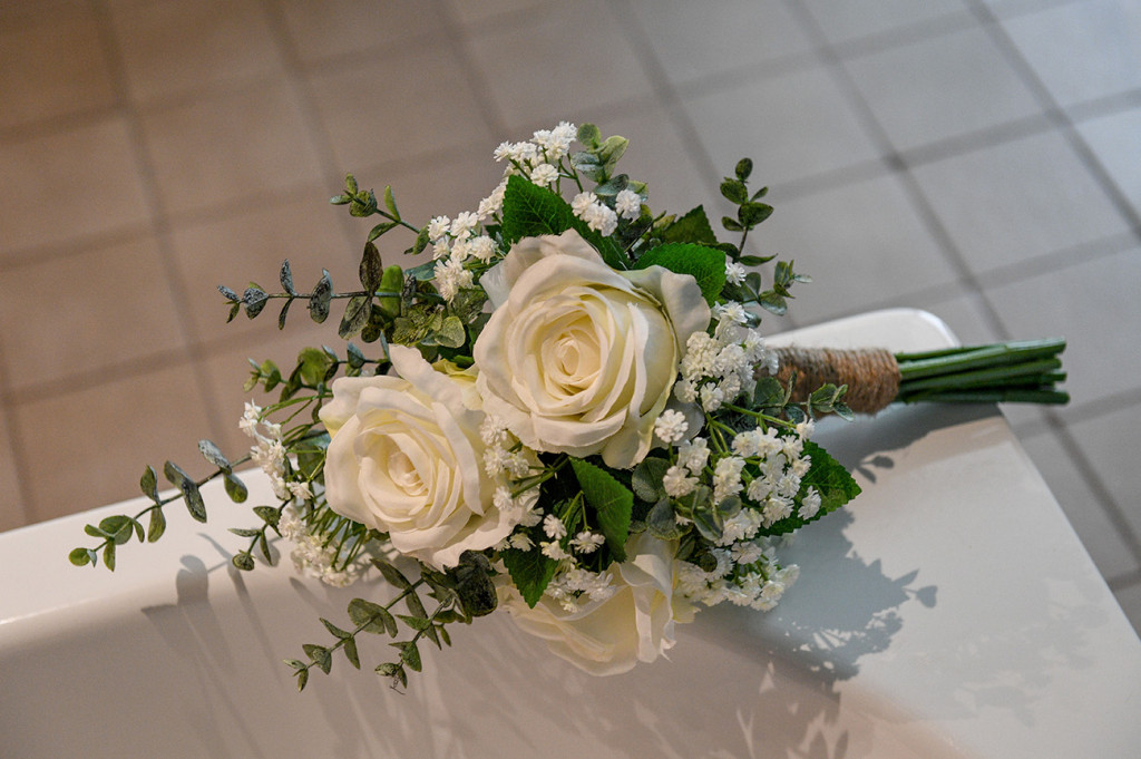White rose bouquet by Keepsake bouquets