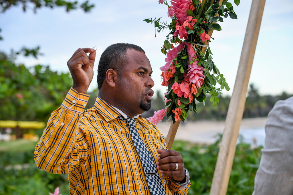 Passionate Fiji celebrant officiates elopement wedding at Yatule Resort