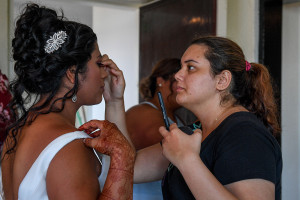 Finishing touches bridal makeup