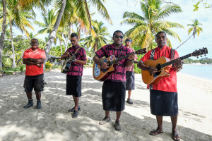 Fiji band play for bride