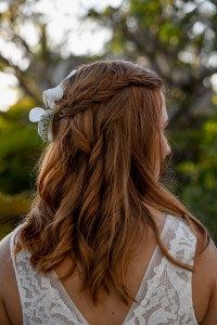 Simple braid on bride