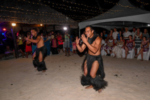 Male performers entertain guests