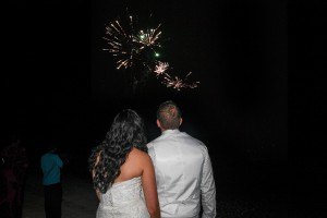 Fireworks for the newly weds