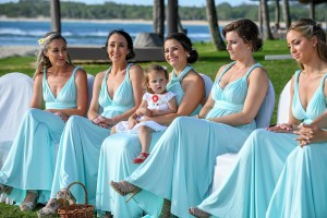 A row of bridesmaids