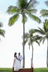 Married under a palm tree