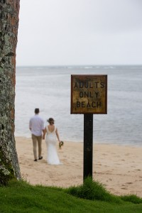 Wedding at nudist beach