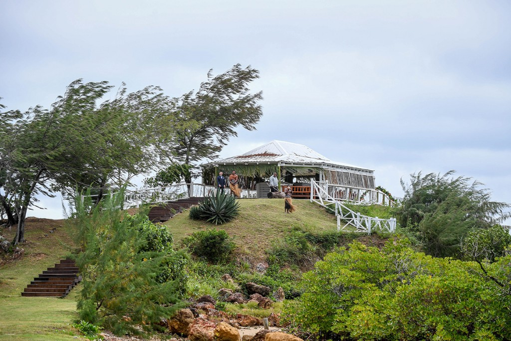 The wedding venue located uphill at the Tropica Island Resort