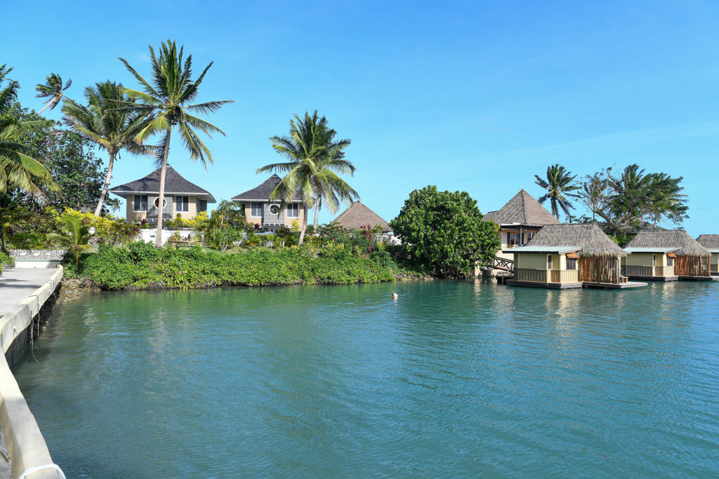 A view of the Koro Sun Savusavu villas from the ocean